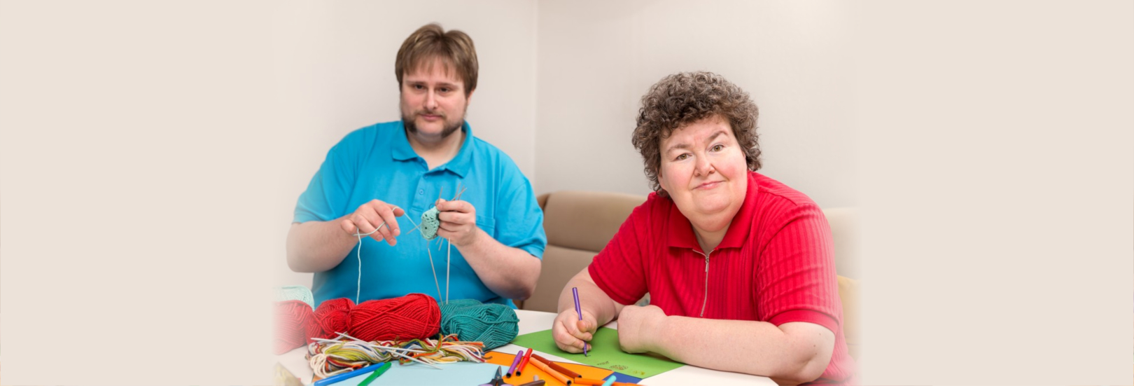 A men and mentally disabled women are tinker